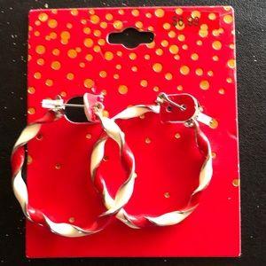 Jewelry - Christmas hoop earrings